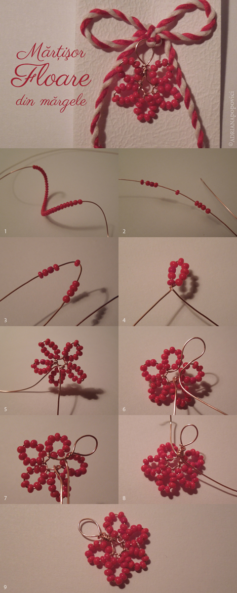 Tutorial floare margele